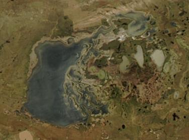 サリアルカーカザフスタン北部のステップと湖沼群の画像1